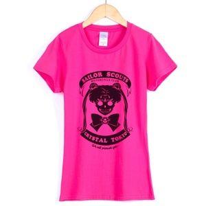 Sailor Moon Gothic T Shirt Pink Size Small/Medium